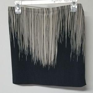 Norma Kamali artsy graphic dripping skirt S/M